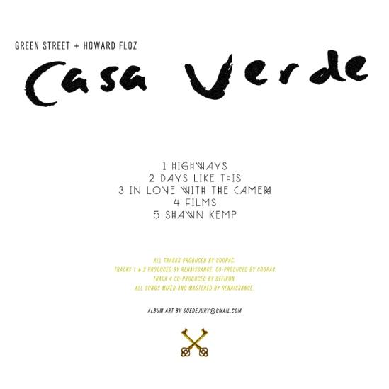 Green Street - Casa Verde (Back Cover)